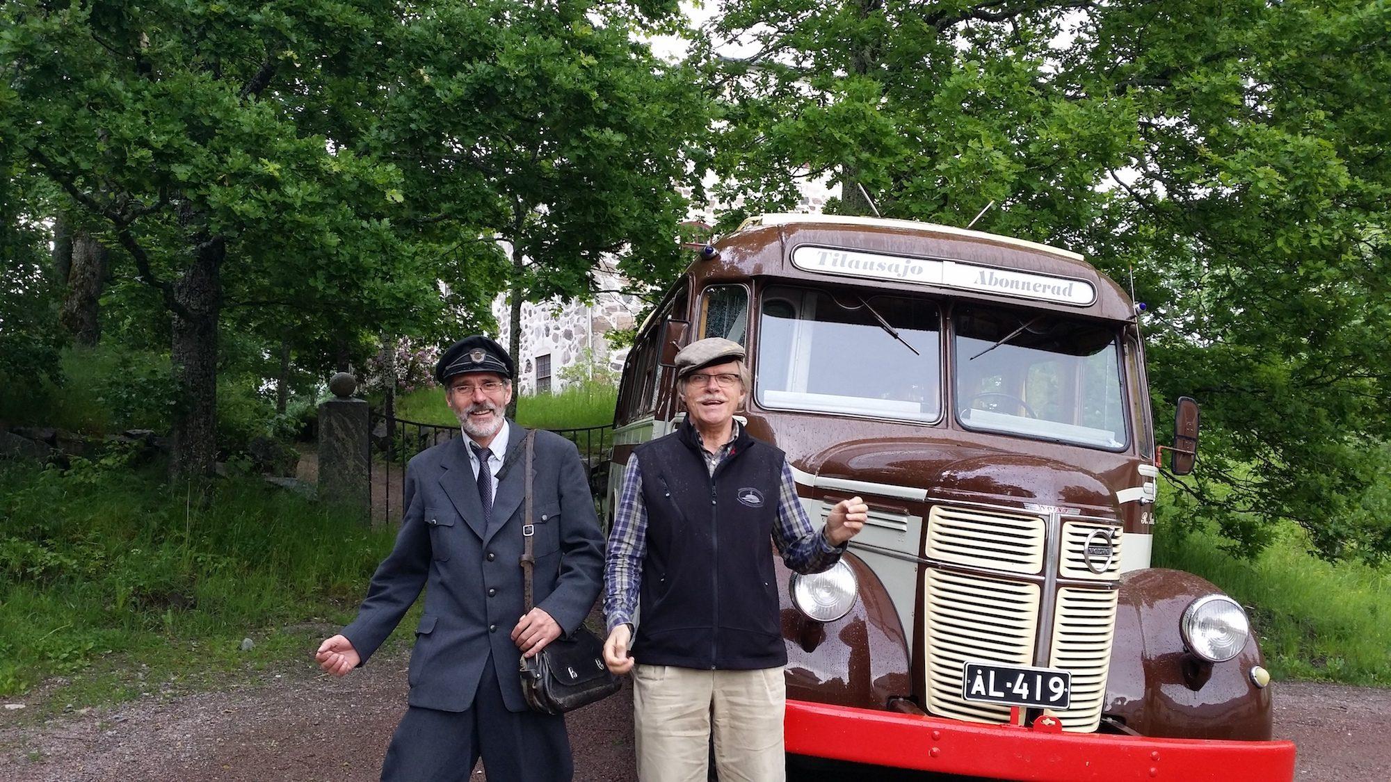 Porkala Parentesen Lundströms buss Sjundby Porkkala Siuntio
