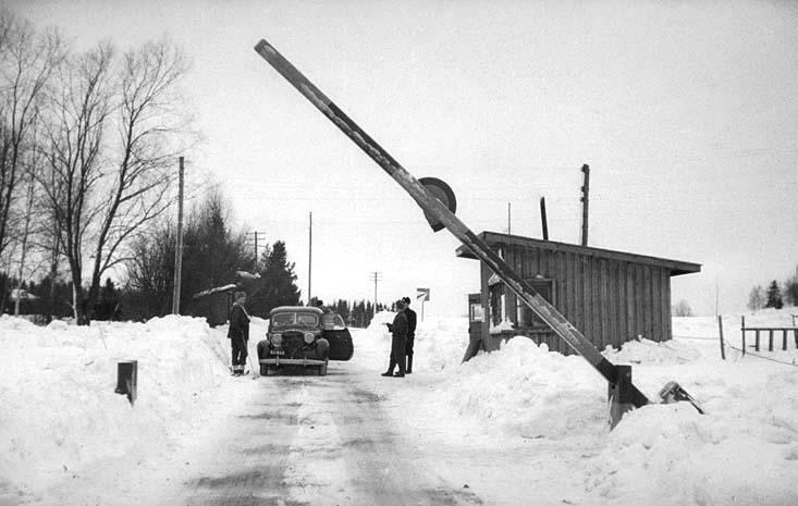Siuntion raja - Sjundeå gräns - Siuntio border 1956